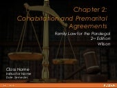 Cohabitation and premarital agreements