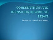 Coherentness and transition in writ...