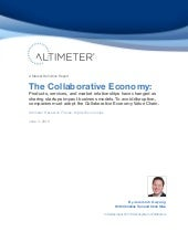 [Report] The Collaborative Economy,...