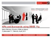 Collaborate'11 - KPIs and Scorecard...