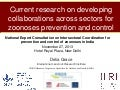 Current research on developing collaborations across sectors for zoonoses prevention and control