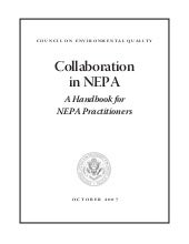 Collaboration In Nepa: A Handbook f...