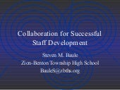 Collaboration for Successful Staff Development