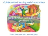 Collaborative Learning and Communities