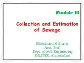 Collection and estimation of sewage