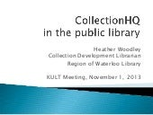 CollectionHQ in the Public Library