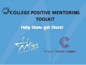College Positive Mentoring Toolkit
