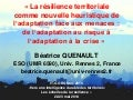 ROSKO14 - Territorial resilience as a new heuristic of adaptation to threats: from the adaptation to the risk to the adaptation to the crisis