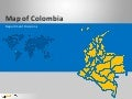 Colombia Map: 100% Editable