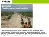 Colombia: Creating peace amid conflict