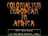 Colonialism european in africa