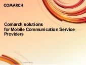 Comarch solutions for Mobile Commun...