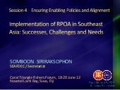 Implementation of RPOA in SE Asia -...