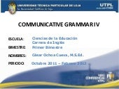 UTPL-COMMUNICATIVE GRAMMAR IV-I-BIM...