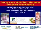 Coming Clean - What Clean Label Means for Consumers and Industry 2015
