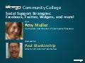 """Community College"": Social Support Strategies"