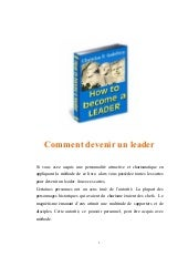 Comment devenir un leader