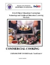 Commercial cooking-learning-module