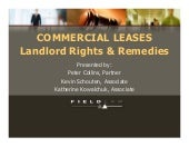 Commercial Lease   Rights And Remed...