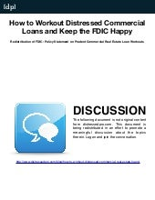 Commercial Loan Workouts | Fdic Pru...