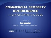 Commercial Property Due Diligence - a Lawyer's Practical Guide