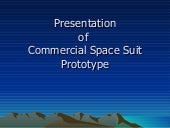 Commercial space suit