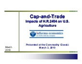 Cap and Trade: Impacts of H.R. 2454...