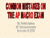 Common Mistakes On The AP Macro Exam