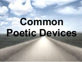 Common Poetic Devices