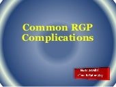 RGP Complications