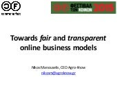 Towards fair and transparent online business models