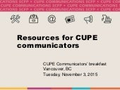 Resources for Communicators