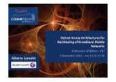 CommTech Talks: Optical Access Arch...