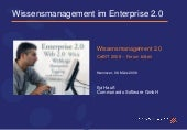 Communardo Wissensmanagement 2.0 CeBit