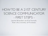 How To Be a 21st Century Science Co...