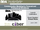 Communication Modeling for Personal...