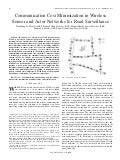 Communication cost minimization in wireless sensor and actor networks for road surveillance