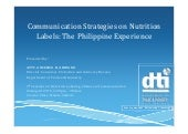 Communication Strategies on Nutrition Labels - The Philippines_2015