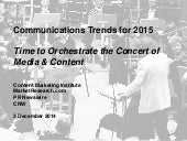 Communications Trends For 2015 - Creative Approaches to Content Promotion