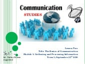 Communication studies lecture 2