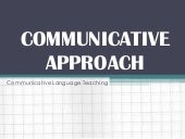 Communicative approach