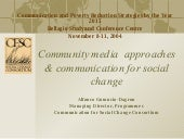 Community Media Approches and the MDGs