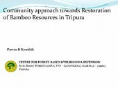 Community Approach towards Restorat...