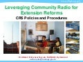 Leveraging Community Radio for Extension Reforms in India