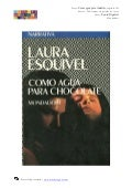 """Como agua para chocolate"", Laura Esquivel"