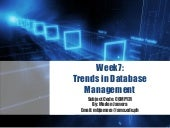 Trends in Database Management