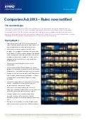 Companies Act 2013 – Rules now notified