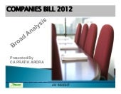 Companies bill 2012 insight finald