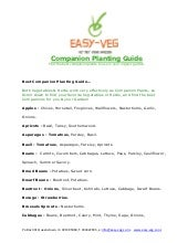Companion Planting Guide - Easy Veg...