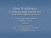 Grow Biointensive Farming and Garde...